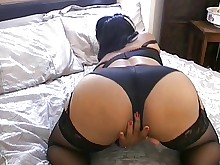 ass big-tits homemade milf playing stocking