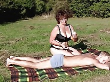 big-tits boobs brunette bbw hd mature milf old-and-young outdoor
