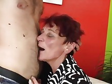 ass glasses granny group-sex hardcore mammy mature old-and-young sucking