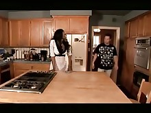 ass big-tits black boobs bus busty ebony hot kitchen