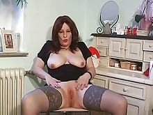 crazy dildo mature nasty prostitut stocking wild