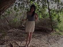 chick hd mammy milf outdoor pov public really