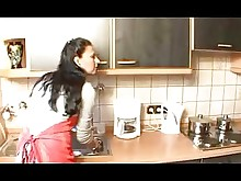 housewife kitchen mature wife