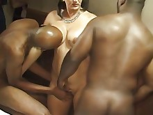 amateur black housewife interracial milf threesome wife