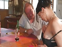 crazy daughter domination double-penetration granny juicy old-and-young pussy rough