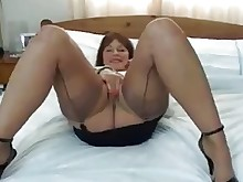 masturbation mature stocking